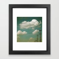 Electric Blue Framed Art Print