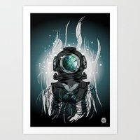 Deep Space Diver Art Print