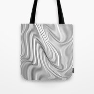 Tote Bag featuring Minimal Curves by Leandro Pita