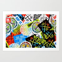 Sticker Collage Art Print