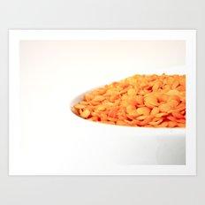 Happy Food Art Print