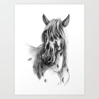 Leopard Spotted Horse Po… Art Print
