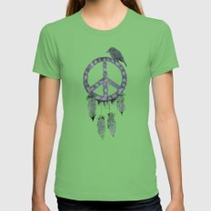 A dreamcatcher for peace Womens Fitted Tee Grass SMALL