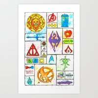 Fandoms Art Print