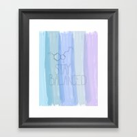 Serotonin...stay Balance… Framed Art Print