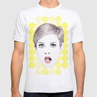 twiggy Mens Fitted Tee Ash Grey SMALL
