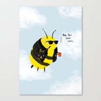 Festival Bees Canvas Print