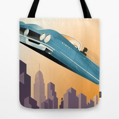 Dude, Where's My Flying Car? Tote Bag