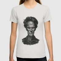 Clint Eastwood Womens Fitted Tee Silver SMALL
