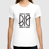 BIG Ambigram Womens Fitted Tee White SMALL