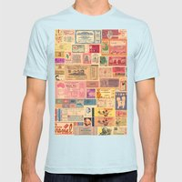 Places, Elsewhere Mens Fitted Tee Light Blue SMALL