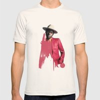 Theophilus London Mens Fitted Tee Natural SMALL