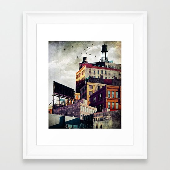 The Rooftop #3 Framed Art Print