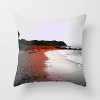 Red Sands Throw Pillow