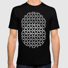 Abstract 3d grainy Mens Fitted Tee Black SMALL
