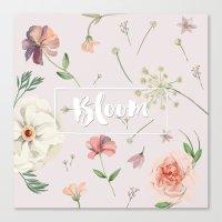Bloom White Canvas Print
