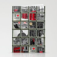 I love London Collage Stationery Cards