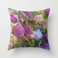 Lavender Flora  Throw Pillow