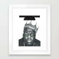 excellence is my presence Framed Art Print