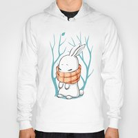 Hoody featuring Winter Bunny by Freeminds