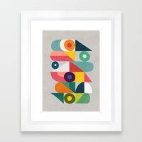 Tick Tock Machine Framed Art Print