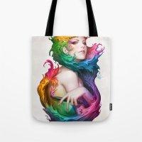 Angel Of Colors Tote Bag