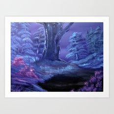 Oriental Oak Art Print