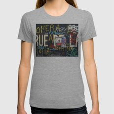 RUEDELA Womens Fitted Tee Athletic Grey SMALL