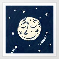 Moon Man Art Print