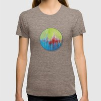A Day At The Beach/Sonia… Womens Fitted Tee Tri-Coffee SMALL