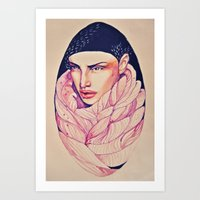 Egglady Art Print