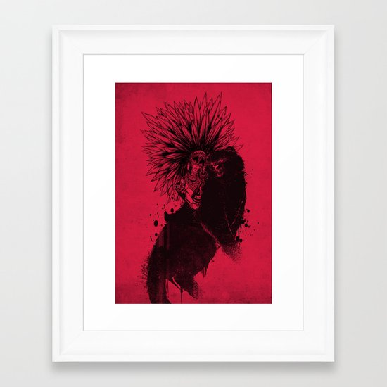 Her Black Cat Framed Art Print
