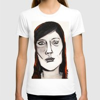 Little Red by D. Porter Womens Fitted Tee White SMALL
