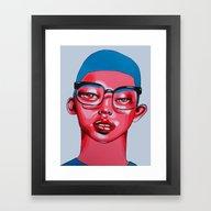 Framed Art Print featuring AUSTIN by Zelda Bomba