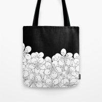 Cherry Blossom Boarder Tote Bag