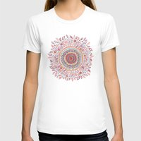 flower T-shirts featuring Sunflower Mandala by Janet Broxon