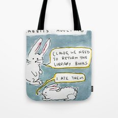 Adulting With Rabbits Tote Bag