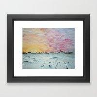 Snowy Trails Framed Art Print