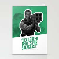 Badass 80's Action Movie… Stationery Cards