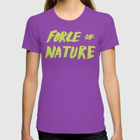 Force of Nature x Cloud Forest Womens Fitted Tee Ultraviolet SMALL