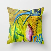 Celestial World of Palm Throw Pillow