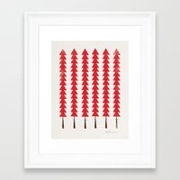 Fancy Trees Framed Art Print