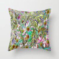 Throw Pillow featuring floral by Carol Sabbagh