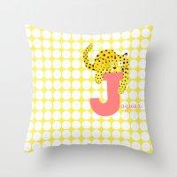 J For Jaguar Throw Pillow