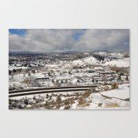 Prescott View In The Win… Canvas Print