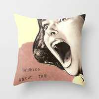 Thinking About The Futur… Throw Pillow