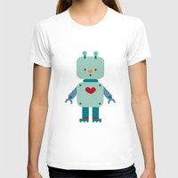 robot T-shirts featuring Robot by Milanesa