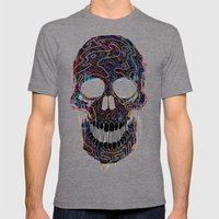 Chromatic Skull V.04 Mens Fitted Tee Tri-Grey SMALL
