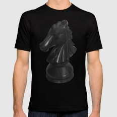 Knight Chess Piece Mens Fitted Tee Black SMALL