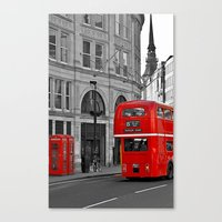 London Bus & Telephone B… Canvas Print